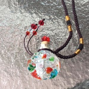 Jewelry - Cremation necklace Murano Glass jewelry